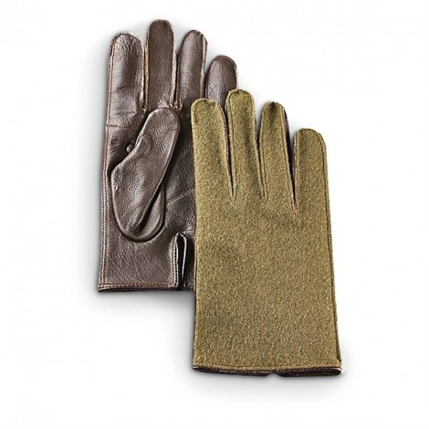 Leather palm wool gloves us