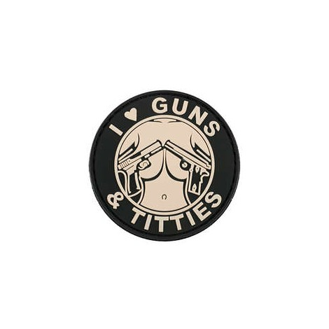 PARCHE PVC GUNS & TITTIES