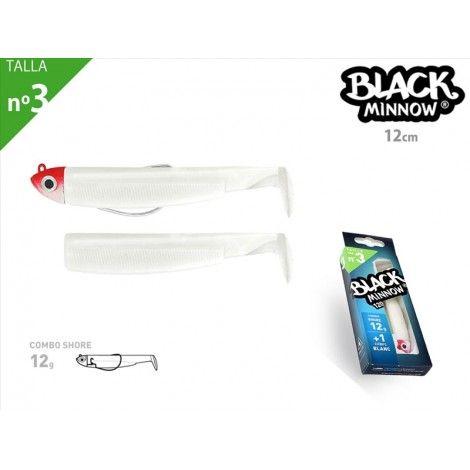 Black Minnow 120 - Combo - Shore - 12g - Blanc - JH Rouge