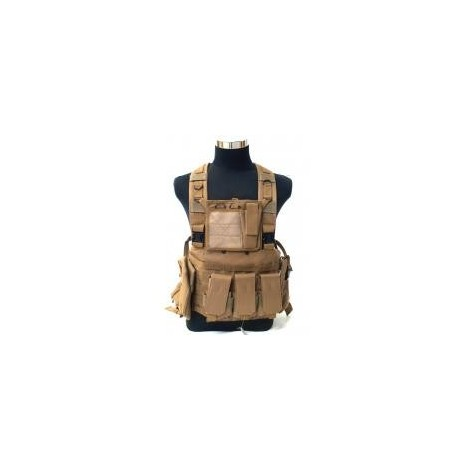Chaleco chest rig coyote