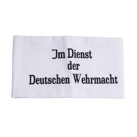 """BRAZALETE """"IM DIENST DER DEUTSCHEN WEHRMACHT"""""""