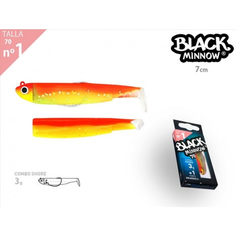 Black Minnow 70 - Combo - Shore - 3g - Orange/Jaune