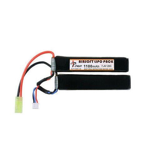 Bateria Lipo 7.4v 1100mah 20C 2 ELEMENTOS