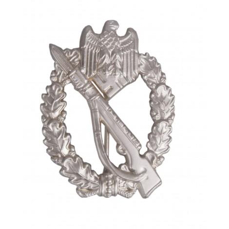 Asalto de infanteria en plata