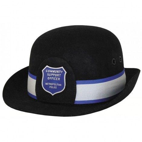 Policía británica Sombrero de mujer, con placa y cinta